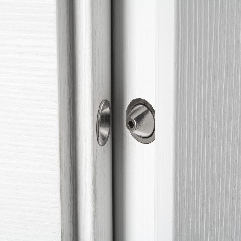 Concealed hinges and central pin
