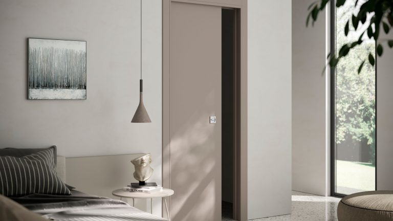 External wall sliding door